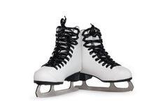 冰鞋子滑冰 免版税库存照片