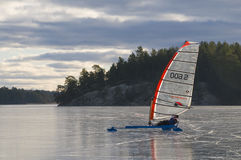 冰鞋航行瑞典 免版税库存照片