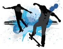 冰鞋splat 免版税图库摄影