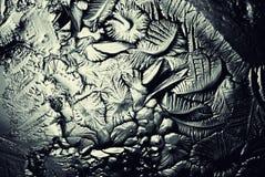 冰,结冰的水纹理  免版税库存照片