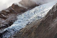 冰-冰川河在喜马拉雅山,尼泊尔 库存图片