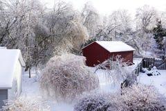 冰暴口岸希望- 2013年12月22日南安大略 免版税库存图片
