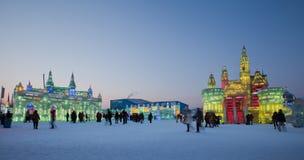 冰&雪世界哈尔滨中国 免版税库存照片