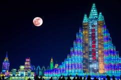 冰&雪世界哈尔滨瓷 免版税库存照片