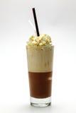 冰frappe热奶咖啡 免版税库存照片