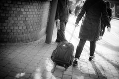冲对火车站 库存图片