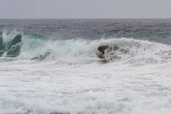 冲浪在加利福尼亚 库存照片