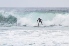 冲浪在加利福尼亚 免版税库存照片