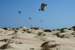 冲浪在非洲 免版税库存图片