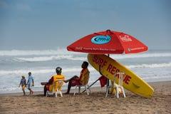 冲浪救生员,库塔海滩,巴厘岛,印度尼西亚 库存图片