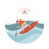 冲浪桨的立场 免版税库存图片