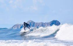 冲浪的哥斯达黎加 免版税图库摄影