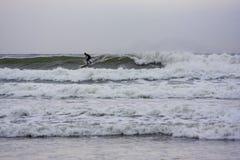 冲浪的托菲诺,BC考克斯海湾的 免版税库存图片