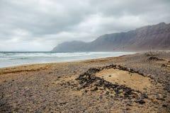 冲浪的海滩La Caleta 库存图片