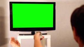 冲浪的电视频道 电视绿色屏幕 影视素材