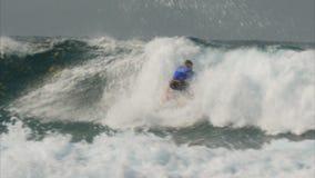 冲浪的360回旋戈尔德比尤特澳大利亚 影视素材