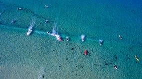 冲浪者从上面 库存照片