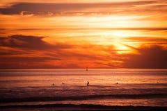 冲浪者和海洋 库存图片