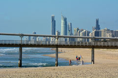 冲浪者在冲浪者天堂昆士兰澳大利亚 免版税库存图片