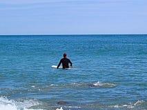 冲浪者在水中 免版税库存图片
