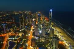 冲浪者天堂地平线-昆士兰澳大利亚 免版税库存图片