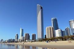 冲浪者天堂地平线-昆士兰澳大利亚 免版税库存照片