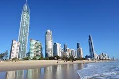 冲浪者天堂地平线-昆士兰澳大利亚 库存图片