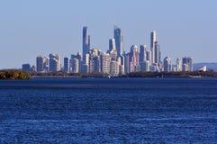 冲浪者天堂地平线-英属黄金海岸昆士兰澳大利亚 免版税库存照片