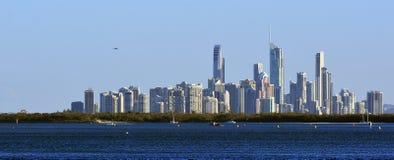 冲浪者天堂地平线-英属黄金海岸昆士兰澳大利亚 免版税库存图片