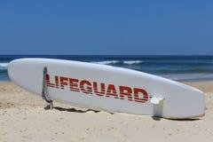 冲浪者天堂的救生员委员会 库存照片