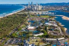 冲浪者天堂, AUS - 9月04日2016年Seaworld有sk的主题乐园 库存图片