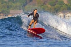 冲浪者女孩。 库存图片