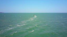 冲浪者形象在巨大的海洋航行到天际 影视素材
