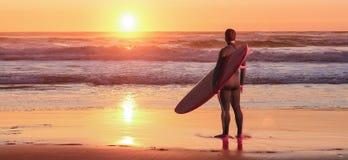冲浪者注意的通知 图库摄影