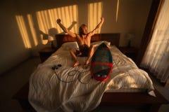 冲浪者睡觉 库存图片