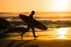 冲浪者赛跑 免版税图库摄影