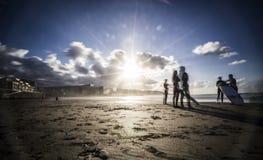 冲浪者,拉斯帕尔马斯de大加那利岛 库存图片