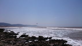 冲浪Morroco的风筝 库存照片
