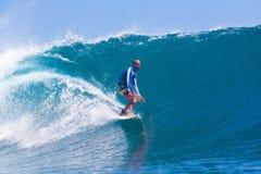 冲浪Wave.GLand海浪Area.Indonesia。 库存照片