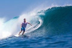 冲浪Wave.GLand海浪Area.Indonesia。 图库摄影
