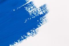冲程蓝色画笔 免版税库存图片