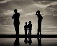 冲突和离婚在家庭 免版税库存照片