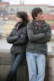 冲突夫妇年轻人 库存照片