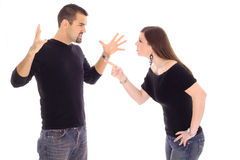 冲突夫妇 免版税库存图片
