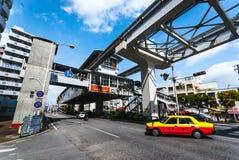 冲绳岛单轨铁路车 免版税库存照片