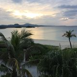 冲绳岛日落 图库摄影