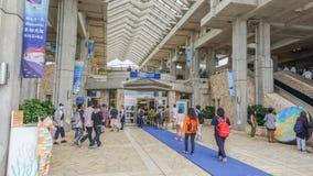 冲绳岛,日本- 2017年4月20日:冲绳岛Churaumi水族馆,隐岐 库存照片