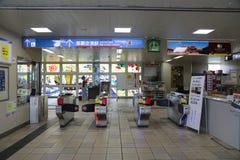 冲绳岛- 10月8日:单轨铁路车驻地在冲绳岛, 10月的8日日本 免版税库存图片