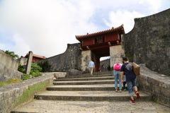 冲绳岛- 10月8日:首里城堡在冲绳岛, 10月的8日日本201 免版税库存图片