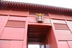 冲绳岛- 10月8日:首里城堡在冲绳岛, 2016年10月8日的日本 免版税库存照片